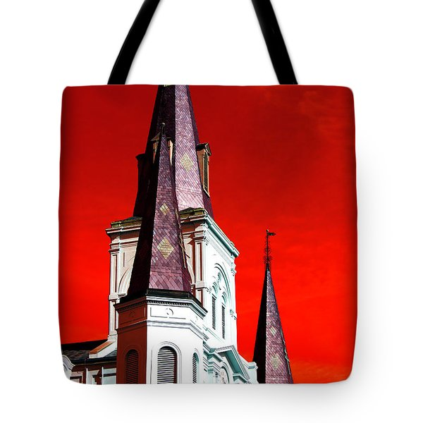 St. Louis Cathedral Towers Pop Art 2009 Tote Bag