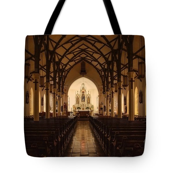 St. Louis Catholic Church Of Castroville Texas Tote Bag