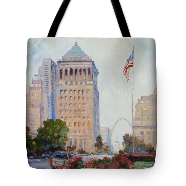 St. Louis Civil Court Building And Market Street Tote Bag