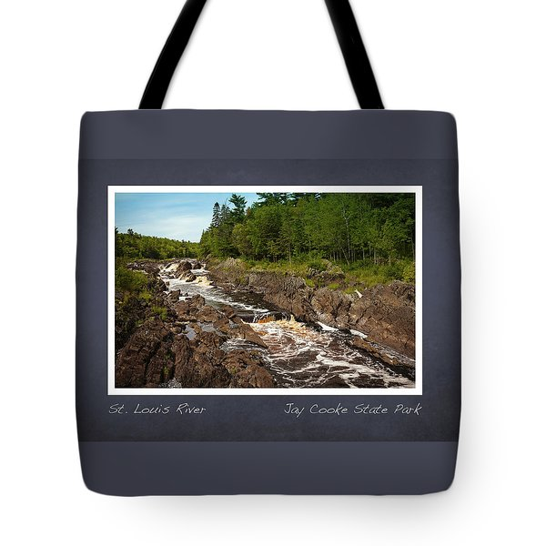 Tote Bag featuring the photograph St Louis River Poster 2 by Heidi Hermes