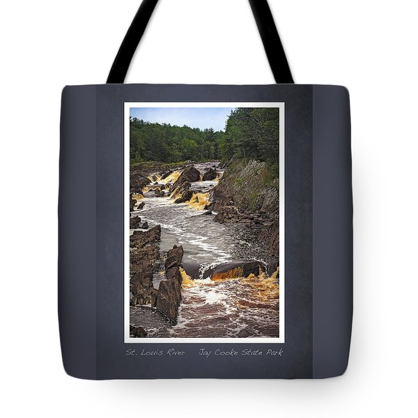 Tote Bag featuring the photograph St Louis River Scrapbook Page 3 by Heidi Hermes