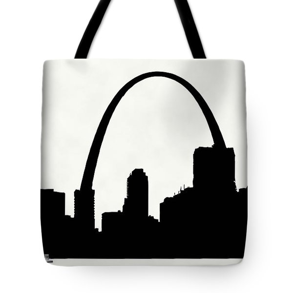 St Louis Silhouette With Boats 2 Tote Bag