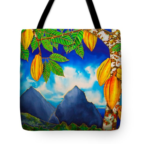 St. Lucia Cocoa Tote Bag