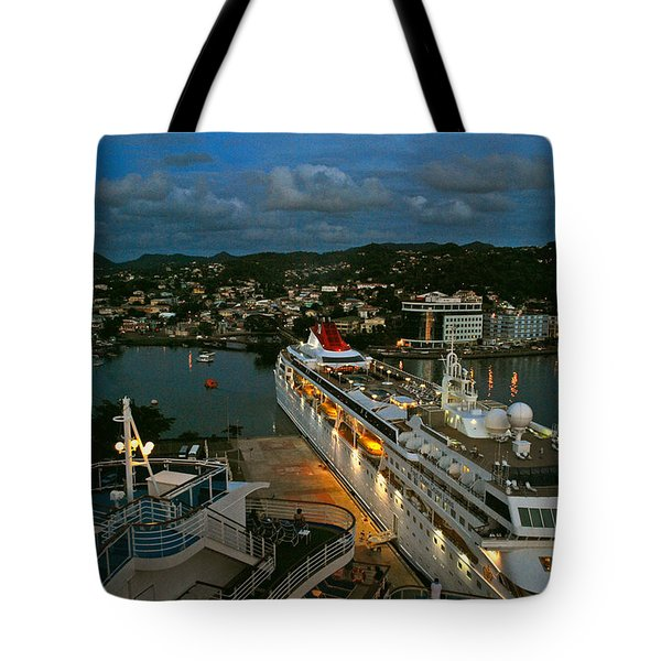 St. Lucia In The Evening Tote Bag