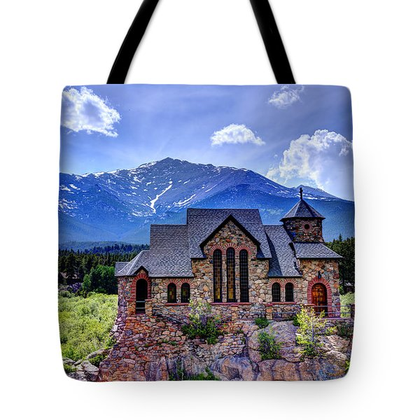 St. Malo - Chapel On The Rock Tote Bag