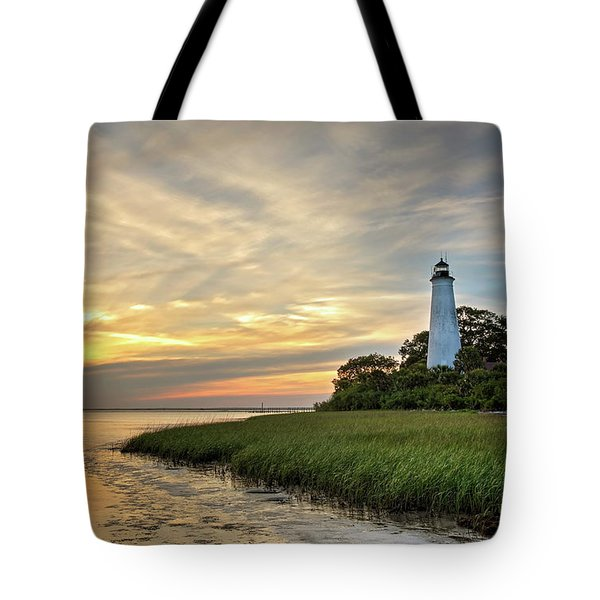 St. Mark's Lighthouse Tote Bag