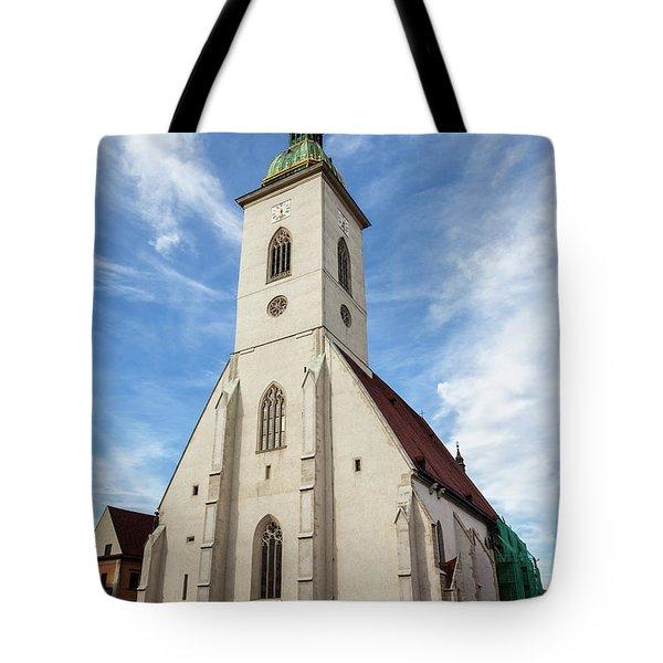 St. Martin Cathedral In Bratislava Tote Bag
