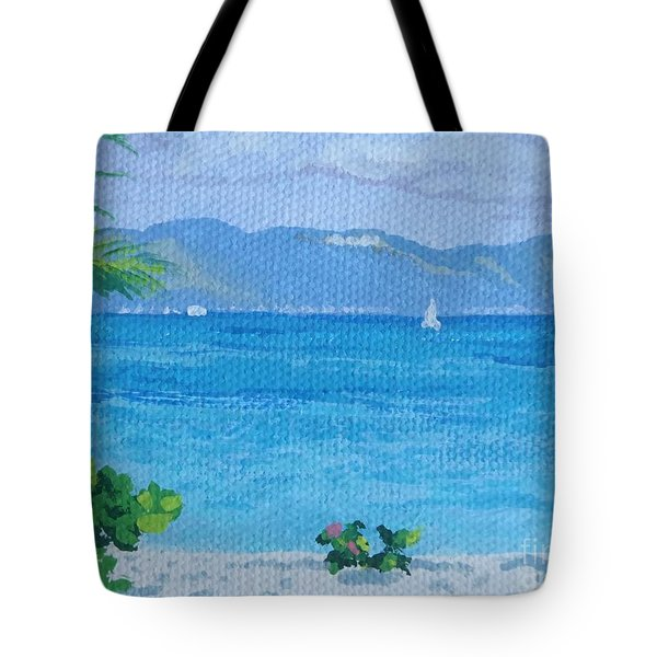 St Martin From Anguilla Tote Bag
