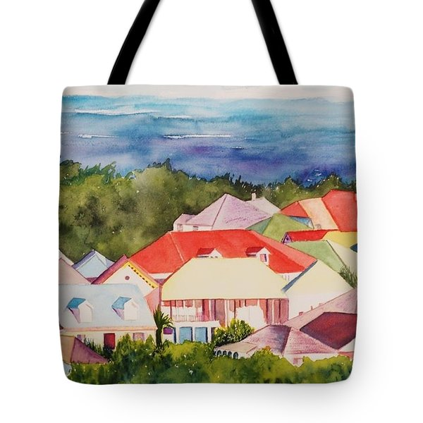 St. Martin Rooftops Tote Bag