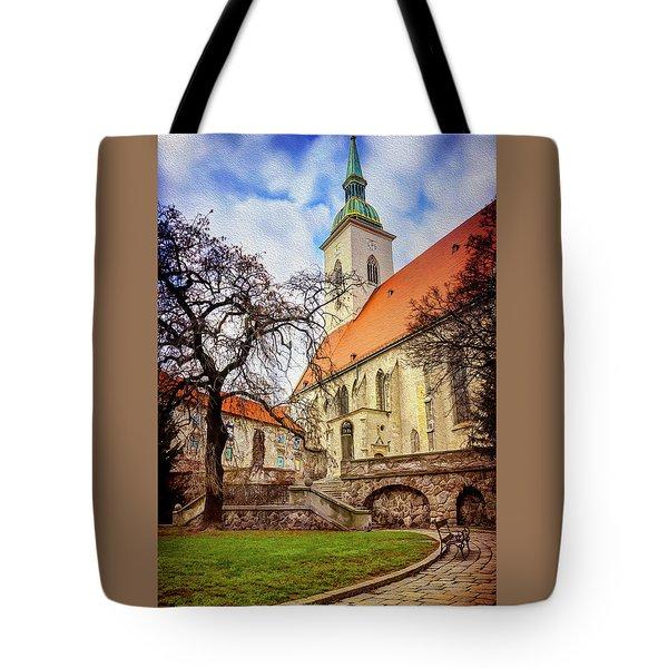 St Martins Cathedral Bratislava Tote Bag