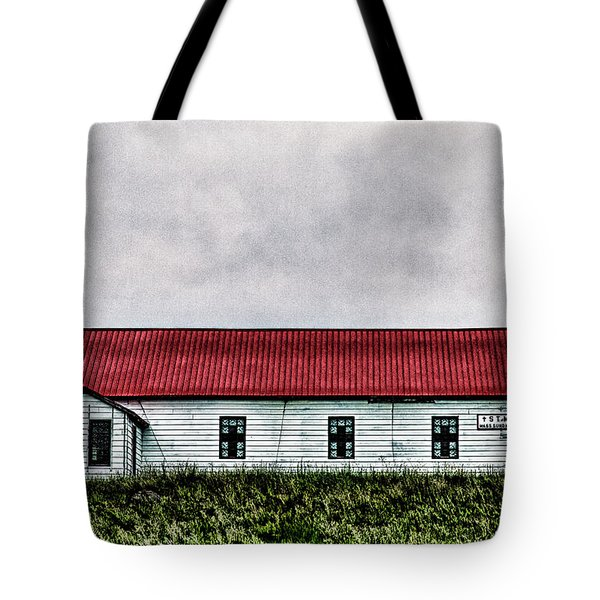 Tote Bag featuring the photograph St. Mary Church, Babb, Mt by Joe Paul