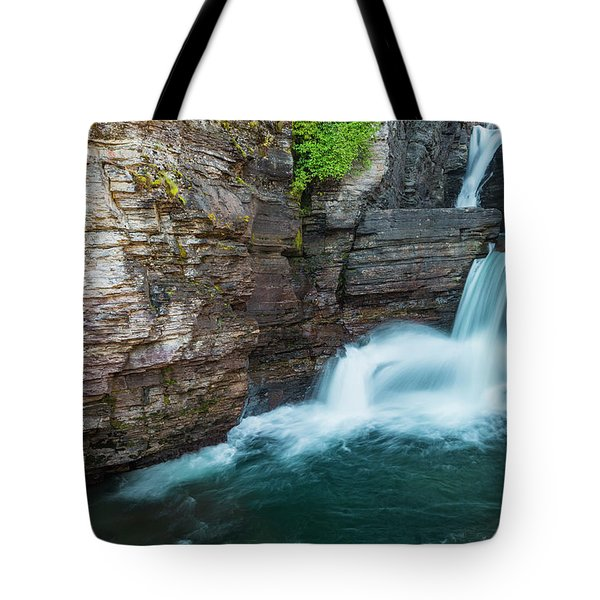 Tote Bag featuring the photograph St. Mary Falls by Gary Lengyel