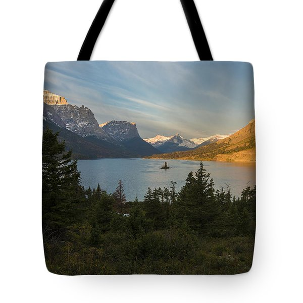 St. Mary Lake Tote Bag by Gary Lengyel