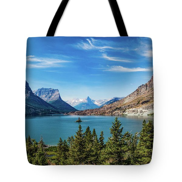 Tote Bag featuring the photograph St. Mary Lake, Glacier N.p. by Lon Dittrick