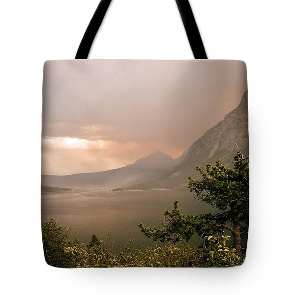 St Mary Lake In The Smoke Tote Bag