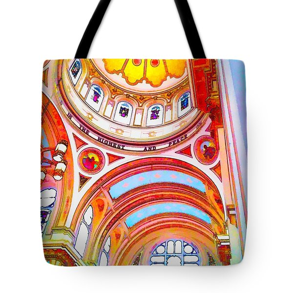 St. Mary Of The Angels 1 Tote Bag by Dave Luebbert