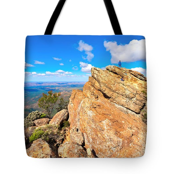 St Mary Peak Tote Bag by Bill  Robinson