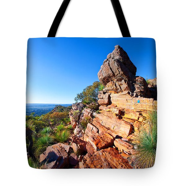 St Mary Peak Wilpena Pound Tote Bag by Bill  Robinson