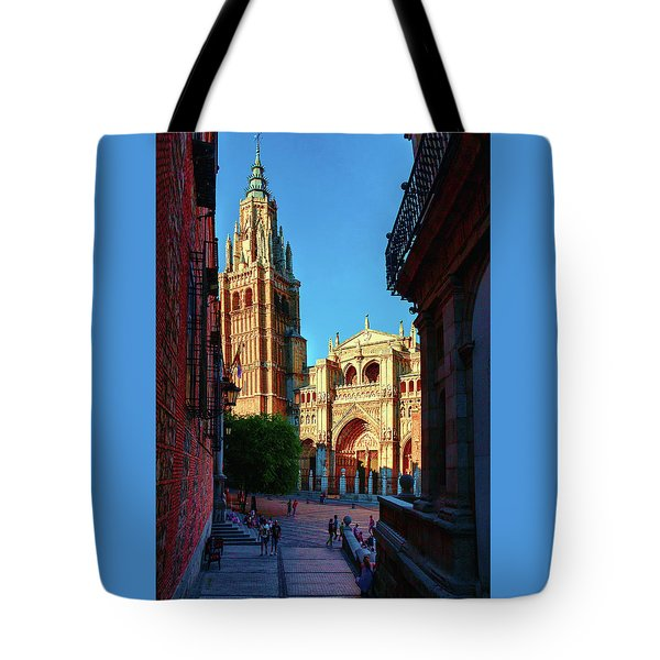 St Mary's Cathedral - Catholic Cathedral In Toledo, Chair Of The Primate Of Spain, The Main Cathedra Tote Bag