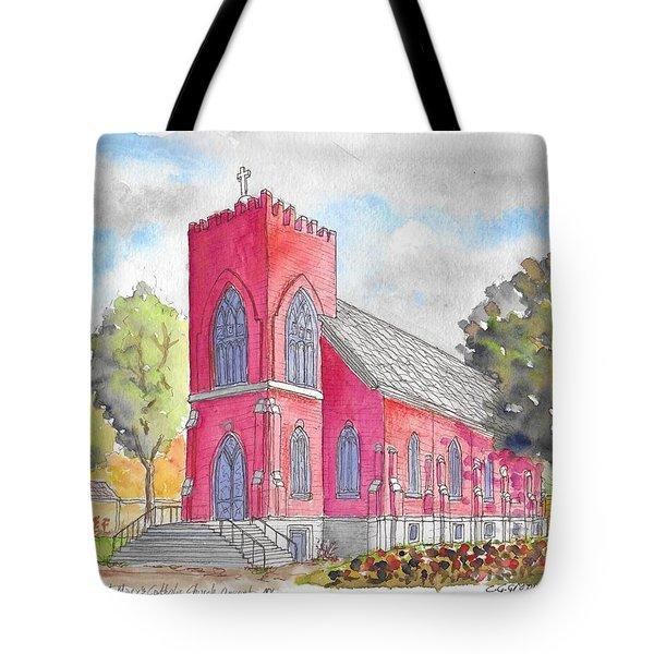 St. Mary's Catholic Church, Oneonta, Ny Tote Bag