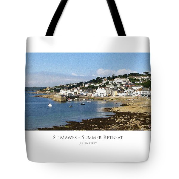Tote Bag featuring the digital art St Mawes - Summer Retreat by Julian Perry