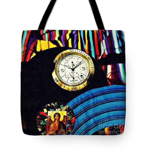 St Michael At The Gates Of Time Tote Bag by Sarah Loft