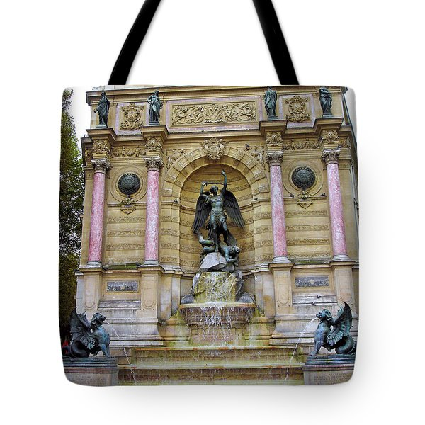 St. Michael's Fountain Tote Bag