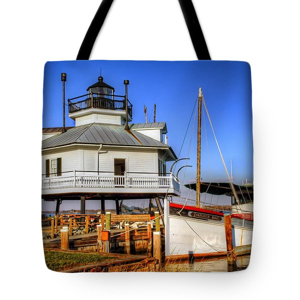St Michaels Lighthouse Tote Bag