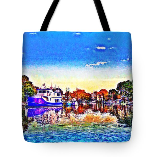 St. Michael's Marina Tote Bag by Bill Cannon