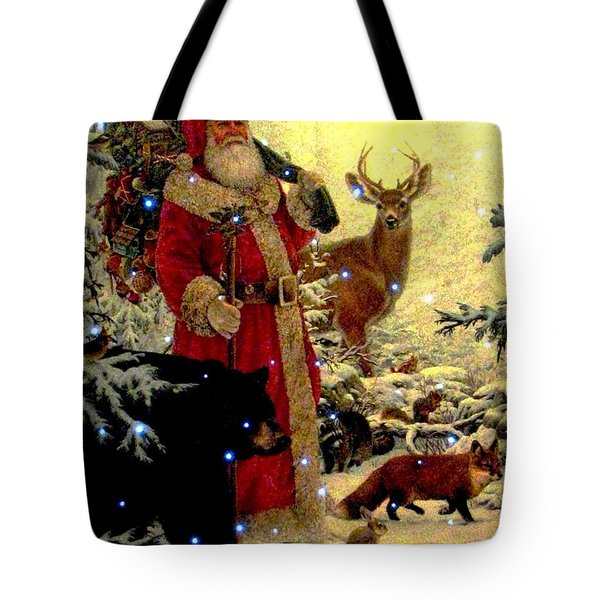 Tote Bag featuring the photograph St Nick  And Friends by Judyann Matthews