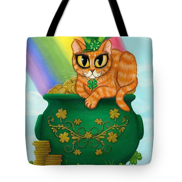 St. Paddy's Day Cat - Orange Tabby Tote Bag