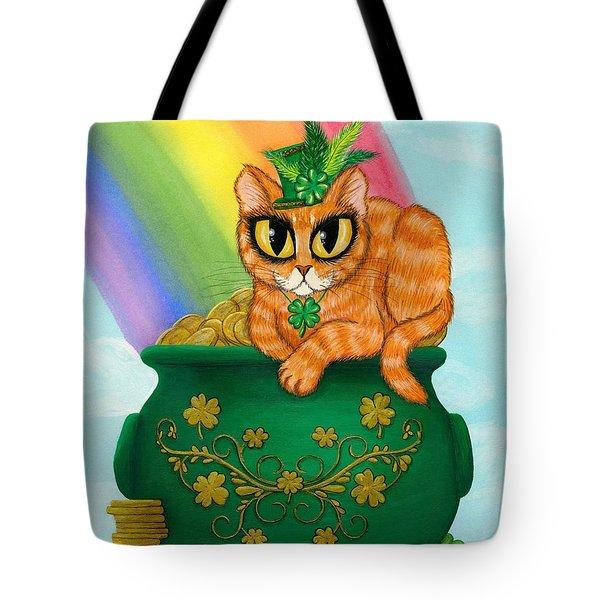 St. Paddy's Day Cat - Orange Tabby Tote Bag