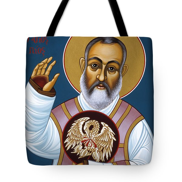 St Padre Pio Mother Pelican 047 Tote Bag