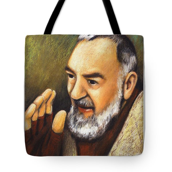 St. Padre Pio Of Pietrelcina - Jlpio Tote Bag