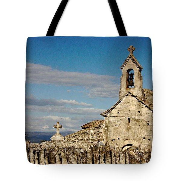 St. Pantaleon Church,  Luberon, France Tote Bag