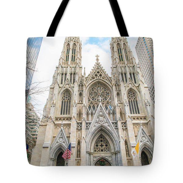 St. Patrick Cathedral In New York Tote Bag