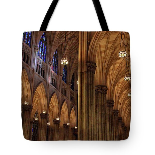 Tote Bag featuring the photograph St. Patrick's Arches by Jessica Jenney