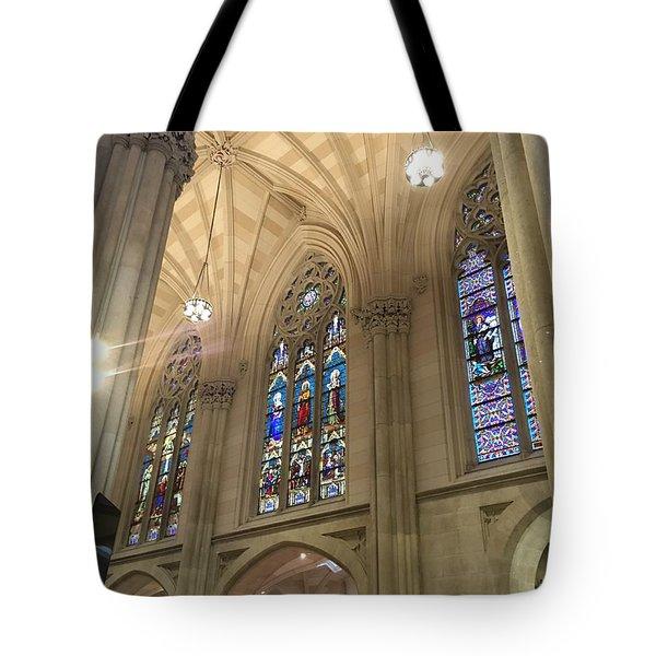 St. Patricks Cathedral Interior Tote Bag