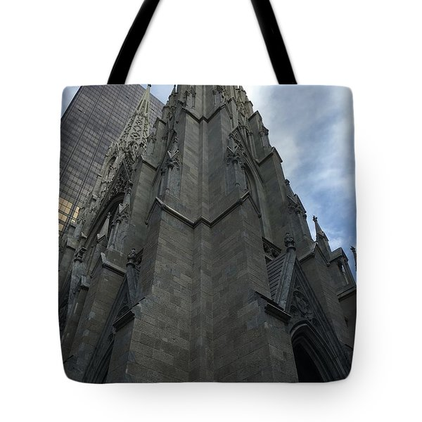St. Patricks Cathedral Perspective Tote Bag