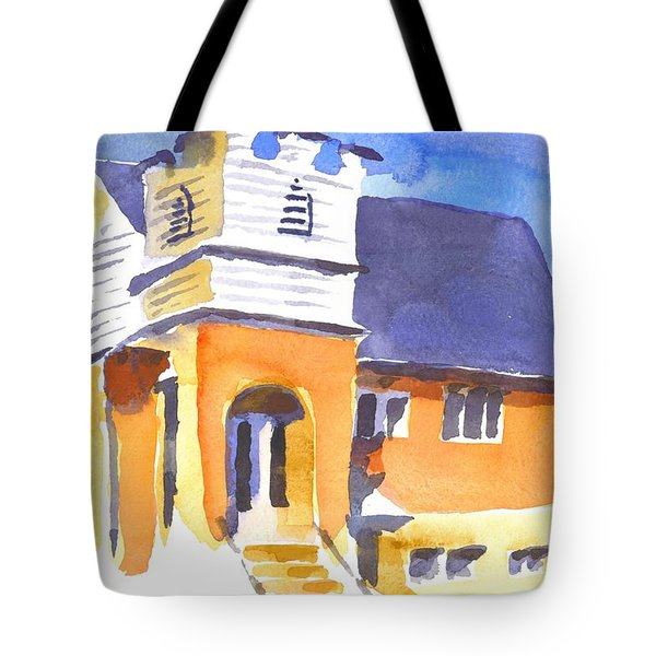 Tote Bag featuring the painting St Paul Lutheran 3 by Kip DeVore