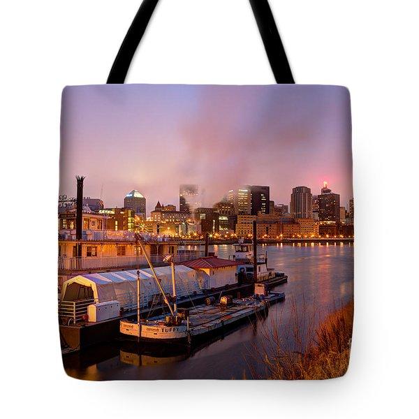St Paul Minnesota Its A River Town Tote Bag