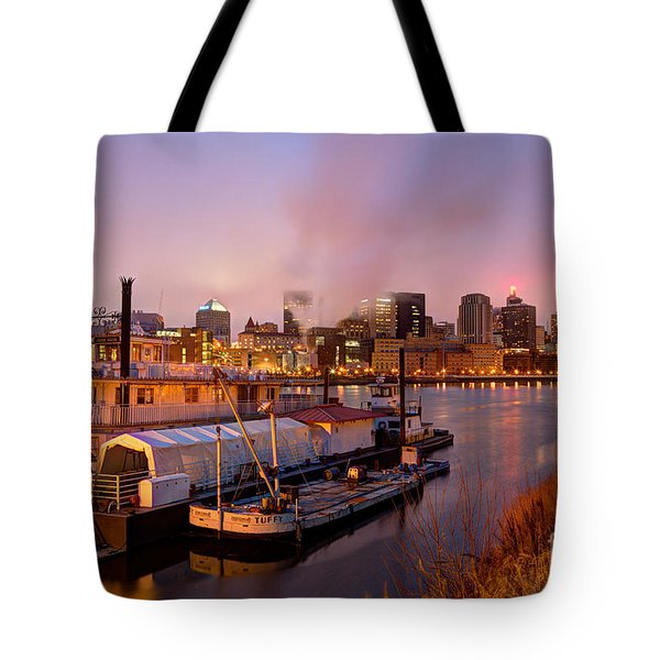 St Paul Minnesota Its A River Town Tote Bag