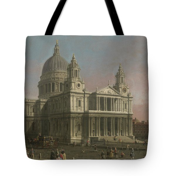 St. Paul's Cathedral Tote Bag by Giovanni Antonio Canaletto