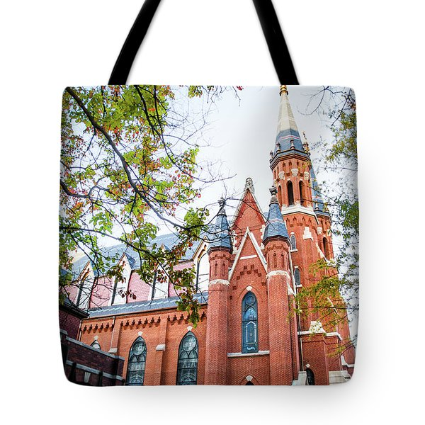Tote Bag featuring the photograph St Paul's Cathedral In Downtown Birmingham by Shelby Young