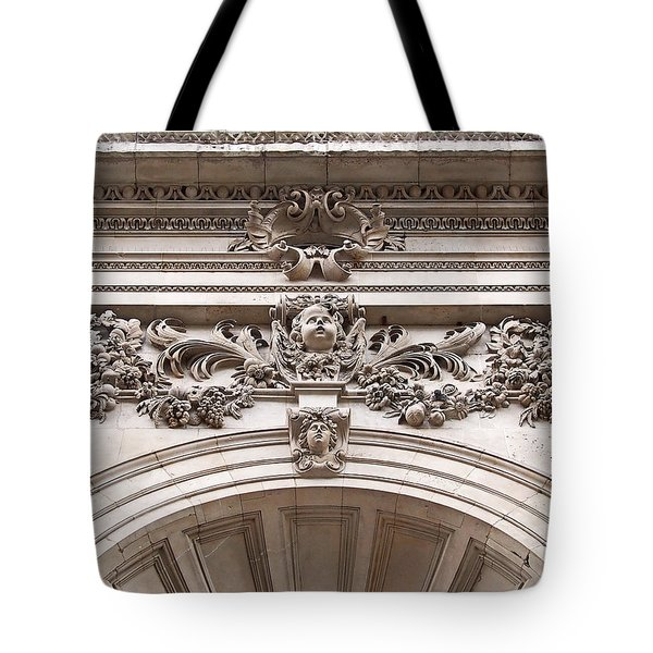 St Paul's Cathedral - Stone Carvings Tote Bag by Rona Black