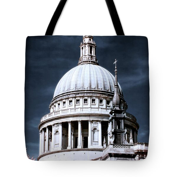 Tote Bag featuring the photograph St. Paul's Cathedral's Dome, London by Helga Novelli