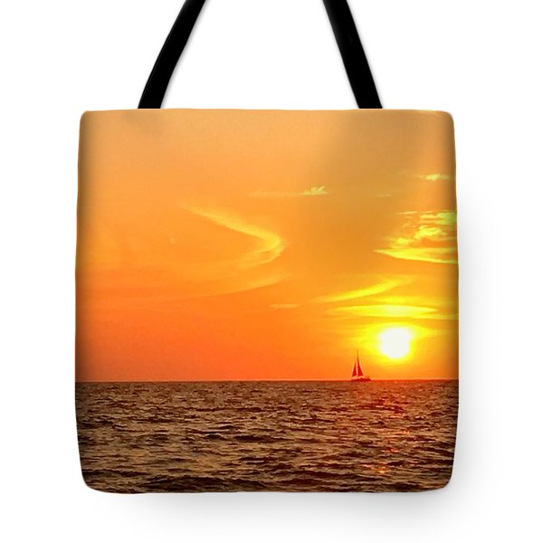St. Pete Beach Sunset Tote Bag by Sandy Taylor