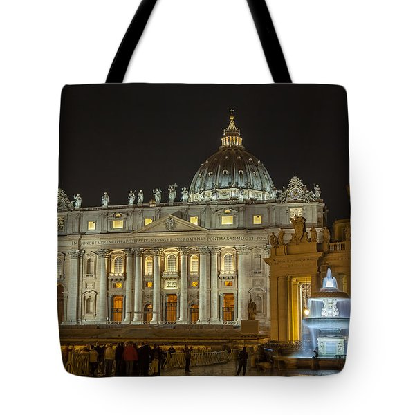 St. Peter Basilica Tote Bag by Ed Cilley
