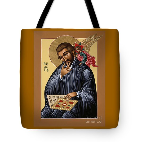 Tote Bag featuring the painting St Peter Canisius Doctor Of The Church 073 by William Hart McNichols