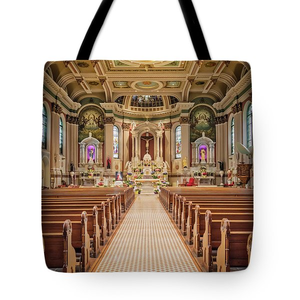 Tote Bag featuring the photograph St Peter The Apostle Church Pa by Susan Candelario